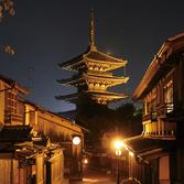 夜の法観寺